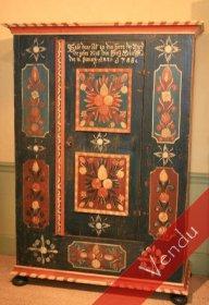 Rare armoire peinte XVIIIe Suisse ou Alsace