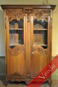 Armoire normande vitrée