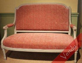 Canapé à dossier plat Louis XVI