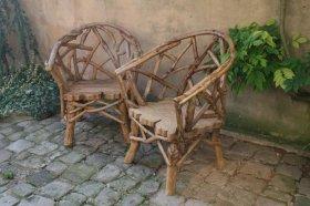 Fauteuils style bois flotté