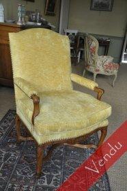 Large fauteuil début du XVIIIe