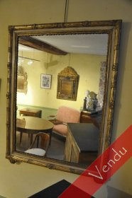 Miroir en bois doré