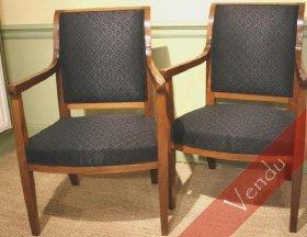 Paire de fauteuils époque Directoire