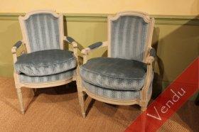 Paire de fauteuils époque Louis XVI