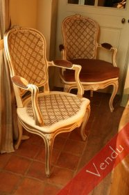 paire de fauteuils L XV