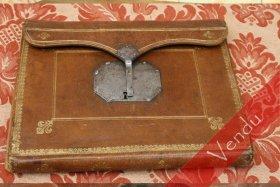 Rare portefeuille en maroquin époque XVIIIe