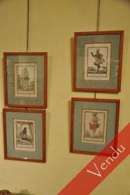 Quatre gravures XVIIIe