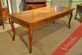 Table Louis XV merisier