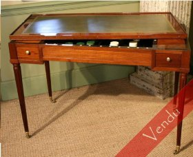 Table de trictrac en acajou époque Louis XVI