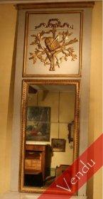 Trumeau de boiserie époque Louis XVI